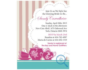 Tea Bridal Shower Invite