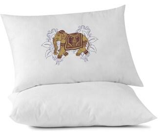 Lucky Tibetan Elephant Custom Pillowcase, Relaxation Pillow, Yoga, Om, Namaste