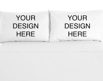 Personalized, Custom Printed Pillowcases