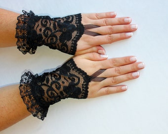 Popular items for finger lace glove on etsy for Lace glove tattoo