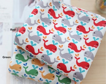 Cotton Fabric Baby Dolphin in 2 Colors By The Yard