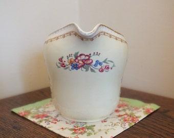 Vintage Milk Jug - Delightful Medium Sized Floral Jug, Portland Pottery Cobridge Regal Works, Made In England