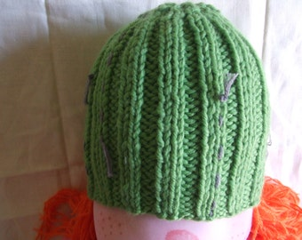 baby Hat knit green wool Cap