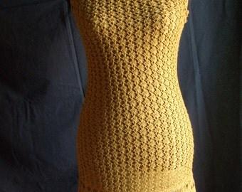 donna cotton lace crochet dress
