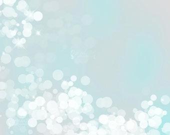 Light Blue background print Custom Frozen print Ice blue bokeh background Digital overlay Christmas background 16x20 8x10 Sparkling light