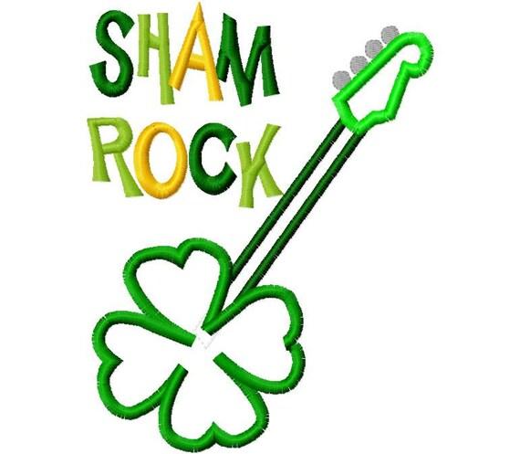 Sham Rock 2013 St. Patrick's Day Applique Machine Embroidery Design 4x4 and 5x7