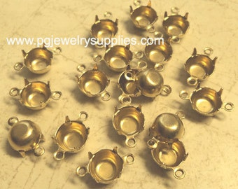 39ss brass closed back prong connector settings 18 piece lot cb2r
