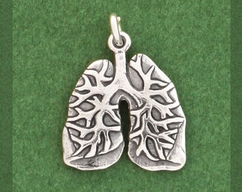 Anatomical Lungs Charms