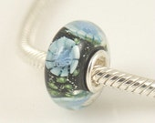 CLEARANCE - Flower MURANO European Bead Charm .925 Sterling Silver