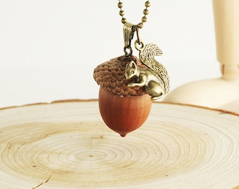 Acorn Nut Necklace - k004