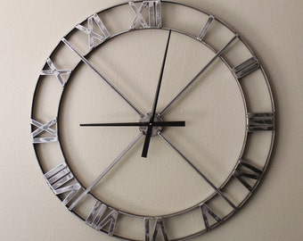 "36"" Wall Clock - Industrial Steel/Metal  (Hands & Movement NOT INCLUDED)"