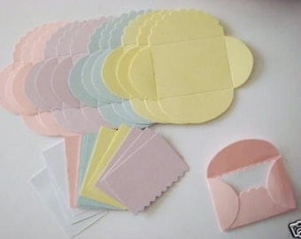 16 cute Pastel Notes with Envelopes for cards/toppers messages cardmaking-scrapbooking