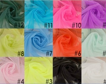 "14colors veil 59"" wide Ivory  white Wedding Net Veil ,soft Bridal Tulle,wedding veil,purple voile,pink mesh,White gauze"
