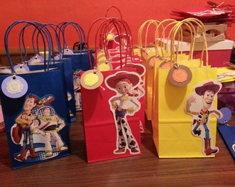 Toy Story Buzz Lightyear, Jessie, Woody Party Favor Bags  12 bags