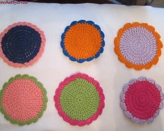 coaster and trivet colors handmade crochet