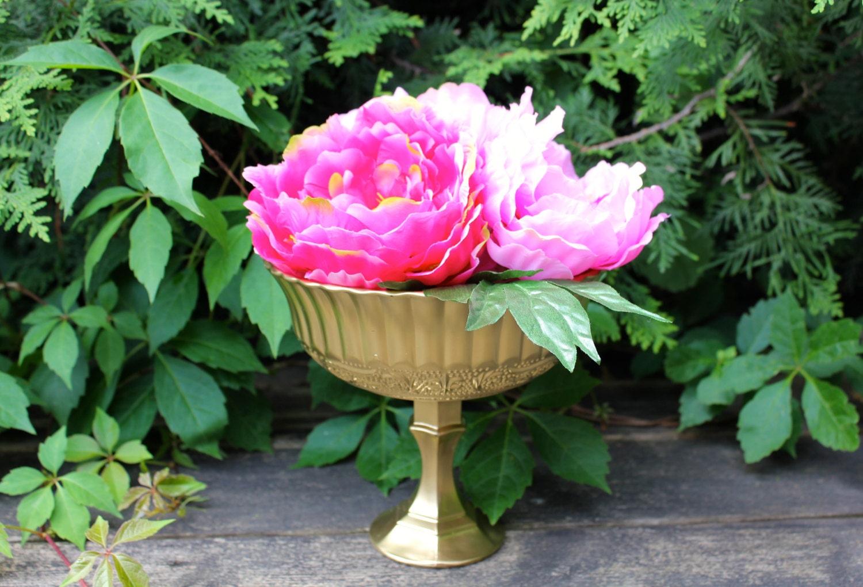 Wedding vase glass centerpiece votive pedestal