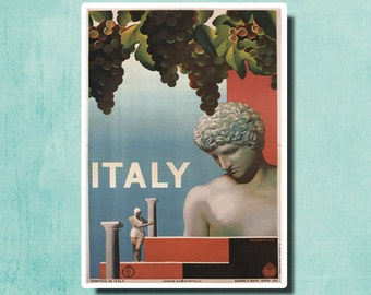 ITALY - Vintage Travel Poster 1935 by Ruggero Alfredo Michaelles - Italy - SG2330
