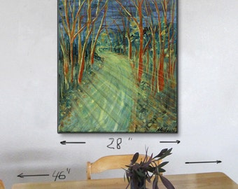 "28""x36"" print,Alaskan art any room,DIY instant download,Coastal bike trail night moon,dining wall decor,kitchen wall art,baby nursery photo"