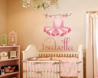 Decals nursery wall decals wallpaper custom made by for Ballerina wall mural