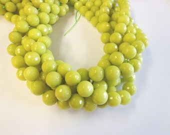 Beautiful Lime Green Faceted Jade
