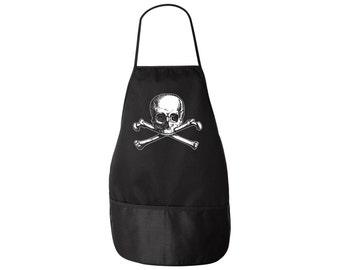Pirate Apron - Olde Skull and Bones