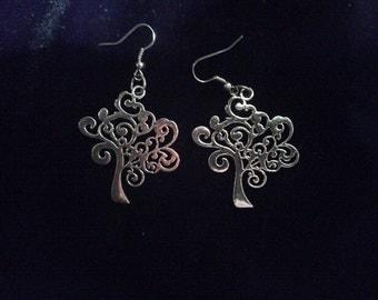 40mm Whimsical Tree earrings