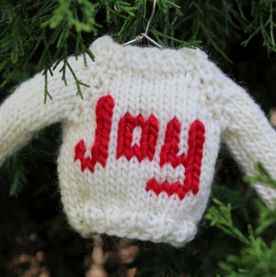 Knitting Pattern Christmas Ornament Mini Sweater Knit