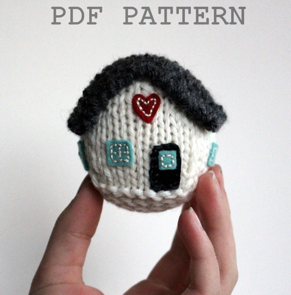 Knitting Pattern / Digital Download / Little House / New Home