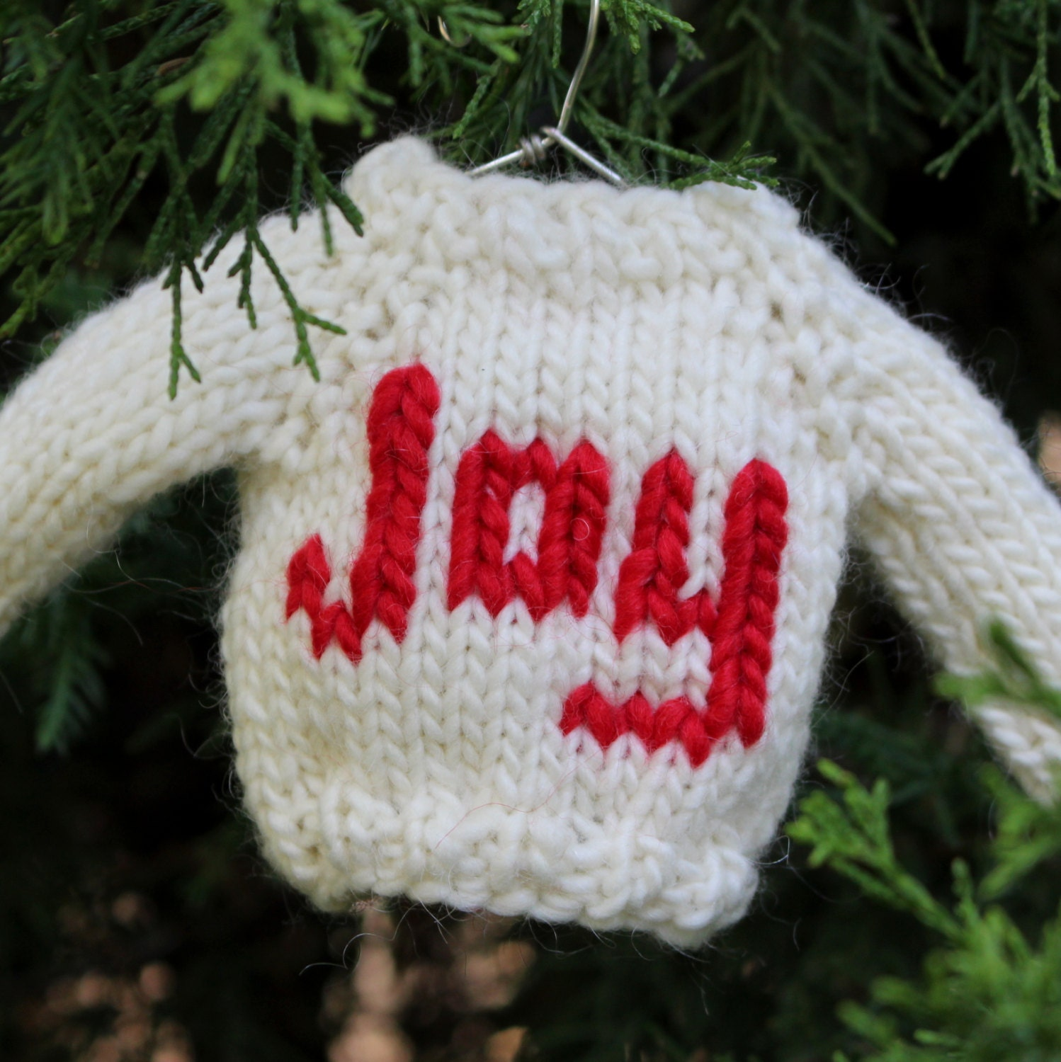 Knitting Pattern Christmas Bunting : Knitting PATTERN / Christmas Ornament Mini Sweater / Knit