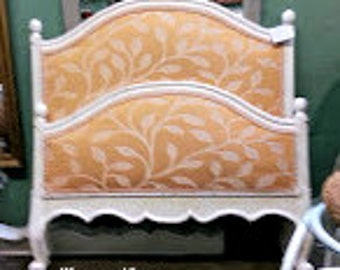 French Painted Upholstered Twin Bed