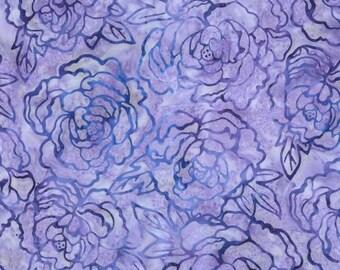 Robert Kaufman Artisan Batik Gazebo 2 Iris Flower Batik Fabric by the Yard AMD-13186-17