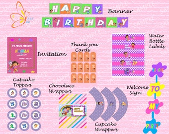 DORA Party Printables Package