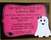 PRINTED Halloween Ghost Spider Birthday Invitations 5x7 Customized Ghost Invites Design 0.82 each