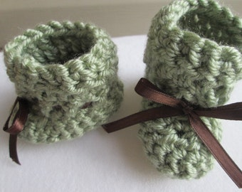 Crochet Baby Booties Knitted Baby Booties Boy Baby