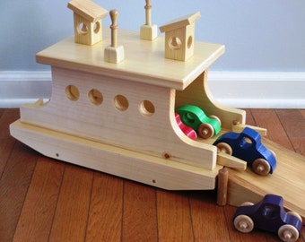 Wooden Ferry Boat/child's gift