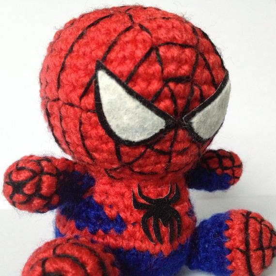 Free Amigurumi Spiderman Pattern : SPIDERMAN Amigurumi Pattern SuperHero Spider Marvel Easy ...