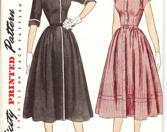 Simplicity 3510 Sewing Pattern 1940's Misses' One Piece Dress  ID569