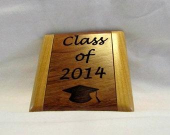 Custom Engraved Wooden Folding Pocket Mirror- Graduate