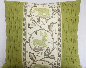 Elephant & Deer. 100% cotton front with Faux Suede Reverse.  45 x 48 cm.