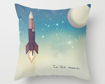 To the Moon Pillow with Insert