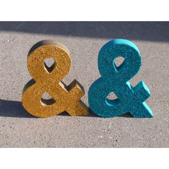 Items similar to glitter ampersand and symbol wedding for Ampersand decoration etsy