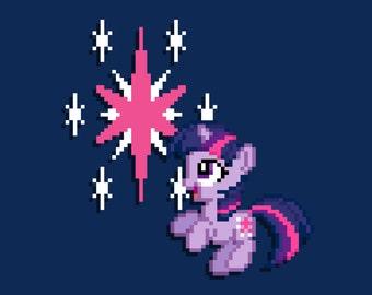 Filly Twilight Sparkle 8-Bit Print