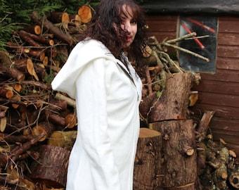 Organic Bamboo Fleece hooded coat