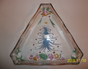 Mikasa Christmas Tree Serving Plate / Platter Vintage