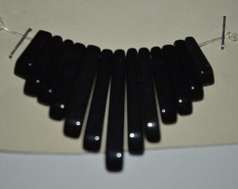 13 Pc. Black Onyx  Mini Collar - Cleopatra Style