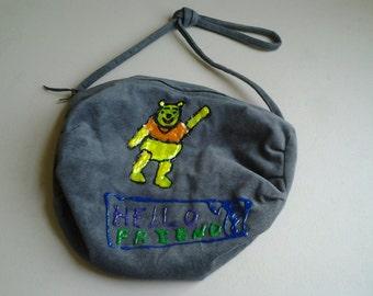 Grey Pooh Bear Bag