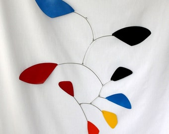 Funky Calder Rainbow Leaves Hanging Mobile