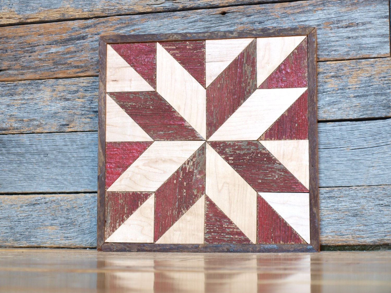 wall star quilt block salvaged wood art by IlluminativeHarvest