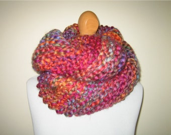 Multicolour Chunky Loop Scarf