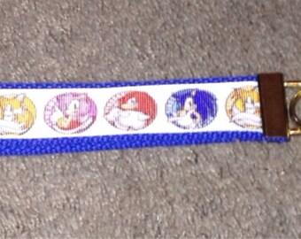 Sonic the Hedgehog wristlet key fob holder key chain.